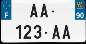 Plaque USA – 30×15 – SIV – 90 – Territoire de Belfort