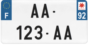 Plaque USA – 30×15 – SIV – 92 – Hauts-de-Seine