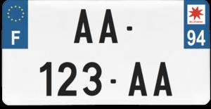 Plaque USA – 30×15 – SIV – 94 – Val-de-Marne