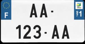 Plaque USA – 30×15 – SIV – 971 – Guadeloupe