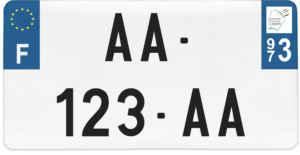Plaque USA – 30×15 – SIV – 973 – Guyane