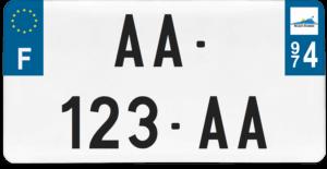 Plaque USA – 30×15 – SIV – 974 – La Réunion