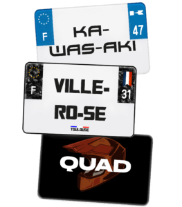 Plaque Quad – 210×130 – 100% Personnalisée