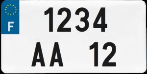 Plaque USA fond blanc ancien numéro – 30×15
