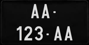 Plaque USA – COLLECTION – nouveau numéro- 30×15