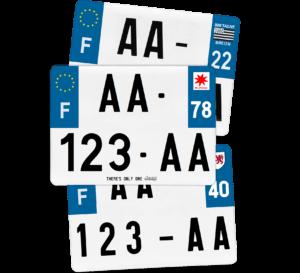 Plaque Remorque – 275×200 – 100% Homologuée Plaque AUTO – 520×110 – Bords noirs & blancs