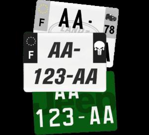Plaque SUV – 275×200 – 100% Personnalisée Plaque SUV – 520×110 – 100% Homologuée
