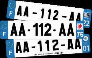 Plaque AUTO – 520×110 – 100% Homologuée