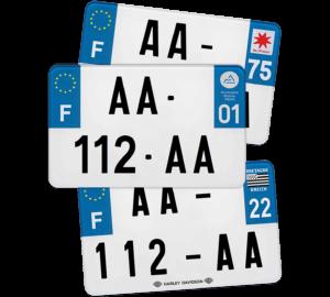 Plaque Remorque – 210×130 – 100% Homologuée Plaque AUTO – 520×110 – Bords noirs & blancs