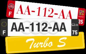 Plaque Remorque – 520×110 – 100% Personnalisée Plaque AUTO – 520×110 – Bords noirs & blancs