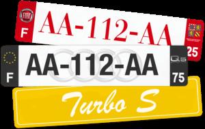 Plaque AUTO – 520×110 – 100% Personnalisée Plaque AUTO – 520×110 – 100% Homologuée