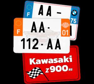 Plaque Remorque – 210×130 – 100% Personnalisée Plaque AUTO – 520×110 – Bords noirs & blancs