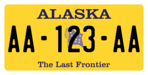 Plaque USA 30×15 Alaska