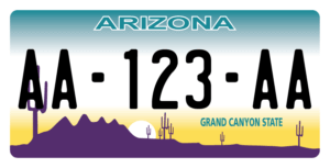 Plaque USA 30×15 Arizona