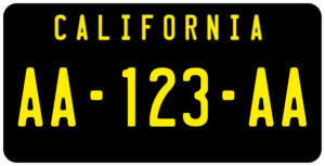 Plaque USA 30×15 Californie Fond Noir