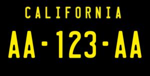Plaque USA 30×15 Californie Fond Noir Plaque USA – 30×15 – SIV