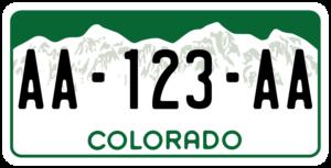 Plaque USA 30×15 Colorado