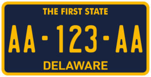 Plaque USA 30×15 Delaware