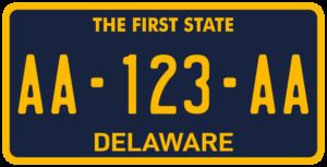 Plaque USA 30×15 Delaware