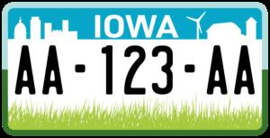 Plaque USA 30×15 Iowa