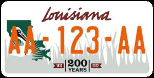 Plaque USA 30×15 Louisiane