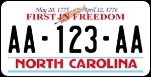 Plaque USA 30×15 Caroline du Nord