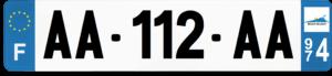 Plaque AUTO – 520×110 – 974 – La Réunion