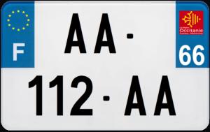 Plaque MOTO – 210×130 – 66 – Pyrénées-Orientales