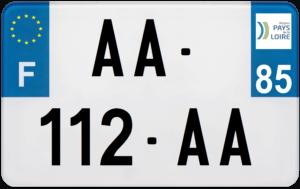 Plaque MOTO – 210×130 – 85 – Vendée