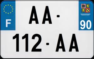 Plaque MOTO – 210×130 – 90 – Territoire de Belfort