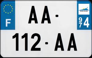 Plaque MOTO – 210×130 – 974 – La Réunion