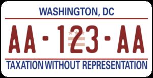 Plaque USA 30×15 Washington DC