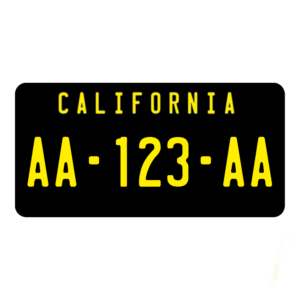 Plaques immatriculation USA