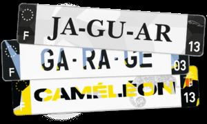 Plaque AUTO – 520×110 – Texture camouflage