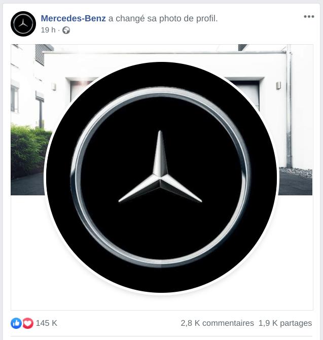 Logo Mercedes Benz adapté au Covid-19 et au confinement
