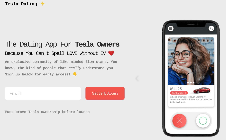 tesla dating application rencontre tesla