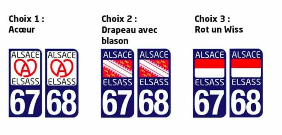 choisir le logo de sa plaque d'immatriculation en Alsace