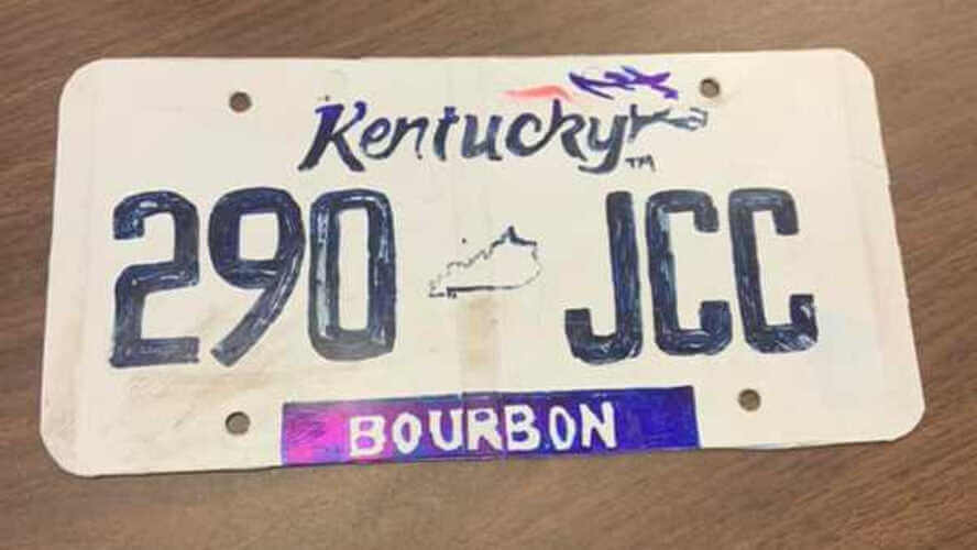 plaque d'immatriculation maison plaque US Kentucky Bourbon