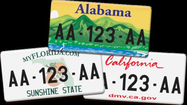 Plaque Immatriculation personnalisée Etats-Unis