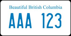 Plaque Canada 30×15 British Columbia