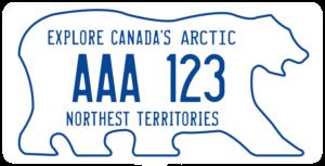 Plaque Canada 30×15 Northwest Territories