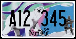 Plaque Canada 30×15 Nunavut