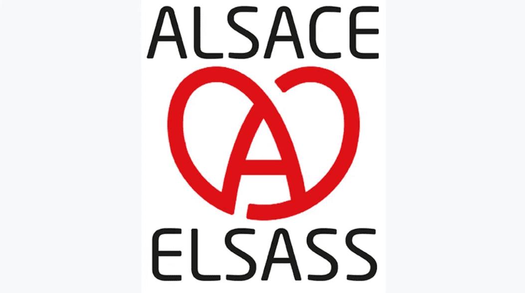 alsace choisit son logo de plaque d'immatriculation acoeur marqueur
