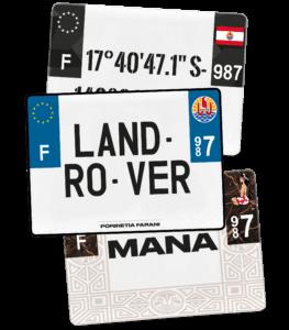 Plaque 4×4 – 275×200 – Polynésie française