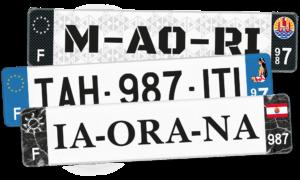Plaque AUTO – 520×110 – Polynésie française