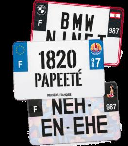 Plaque Moto – 210×130 – Polynésie française