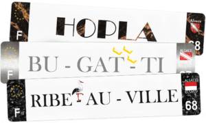 Plaque AUTO – 520×110 – Alsace
