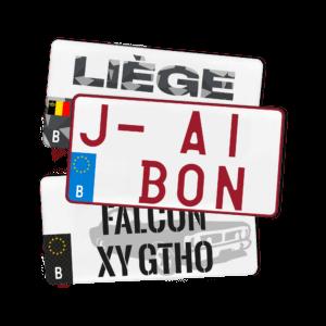 Configurez votre plaque d'immatriculation Belgique USA (300×150) 100% Personnalisée
