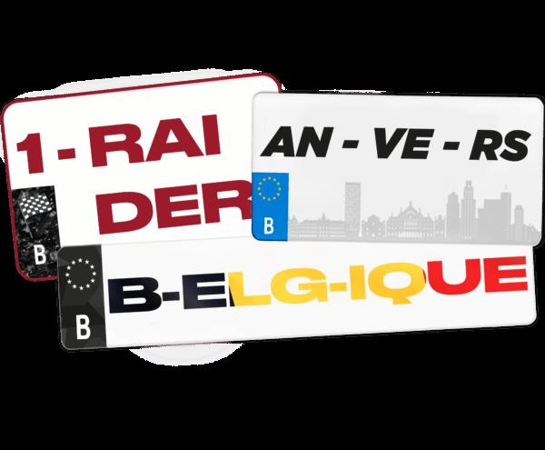 Plaque immatriculation Belgique 100% personnalisée